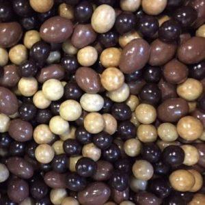 Amandes, Noisettes enrobées de chocolat
